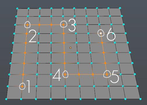 Auswählen eines Pfads auf einer Grid Plane mit der Pick Shortest Path Funktion