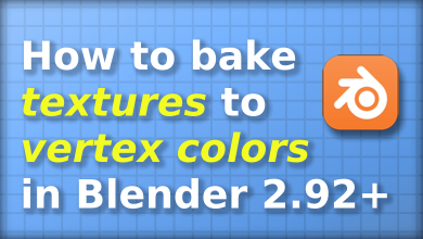 How to bake textures to vertex colors in Blender