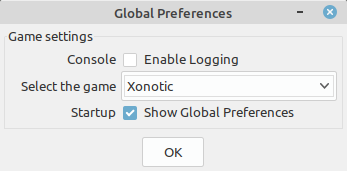Select Xonotic as the game you want to make maps for